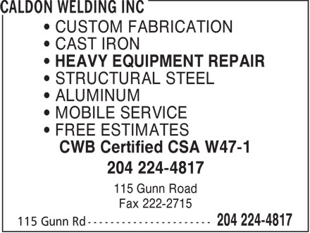 Ads Caldon Welding Inc