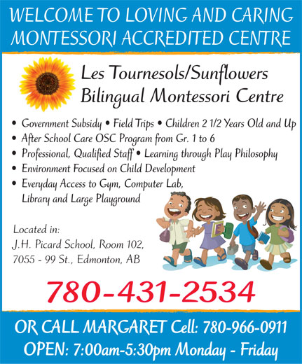 Ads Les Tournesols-Sunflowers Bilingual Montessori Centre