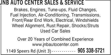 Ads JNB Auto Center Sales & Service