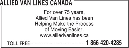 Ads Allied Van Lines Canada