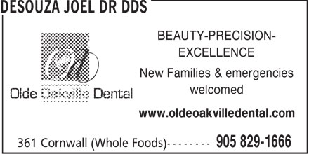 Ads Desouza Joel Dr DDS - (Whole Foods)