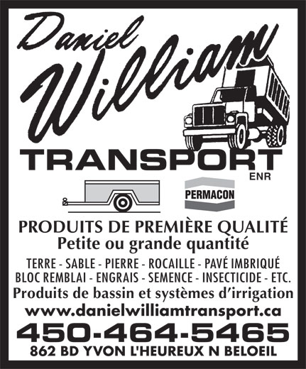 Ads Daniel William Transport Enr