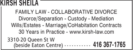 Ads Kirsh Sheila - Collaborative Practice-No Court