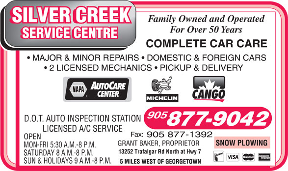 Ads Silver Creek Service Centre