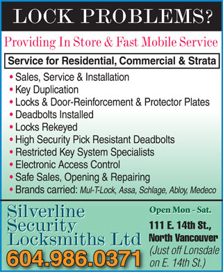 Ads Silverline Security Locksmith Ltd