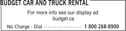 Ads Budget Car and Truck Rental