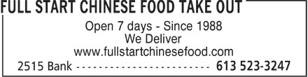 Ads Full Start Chinese Food Take Out