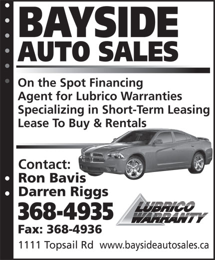 Ads Bay Side Auto Sales