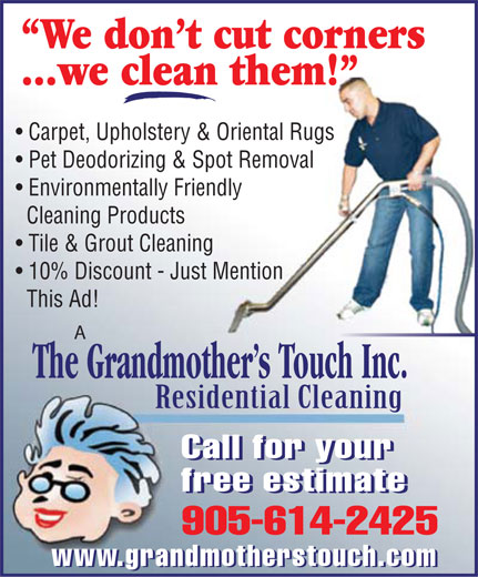 Ads A Grandmother's Touch Residential & Commercial
