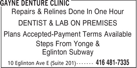 Ads Gayne Denture Clinic