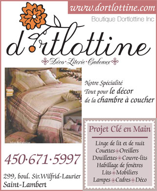 Ads Boutique Dortlottine Inc