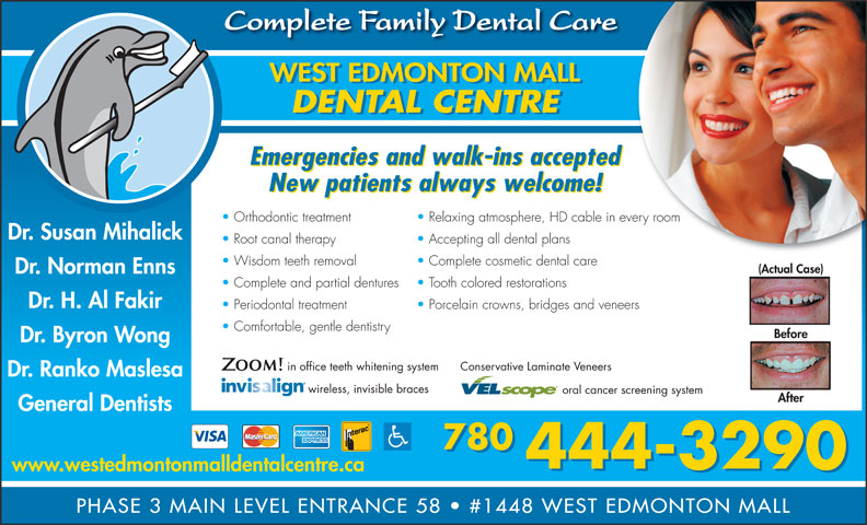 Ads West Edmonton Mall Dental Centre