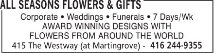 Ads All Seasons Flowers & Gifts