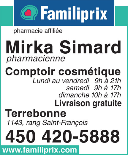 Ads Mirka Simard Pharmacienne