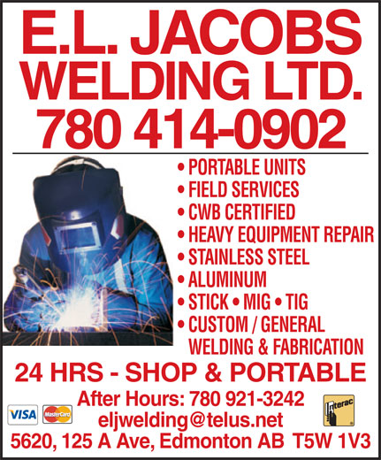 Ads E L Jacobs Welding Ltd - Ask about our initiatives