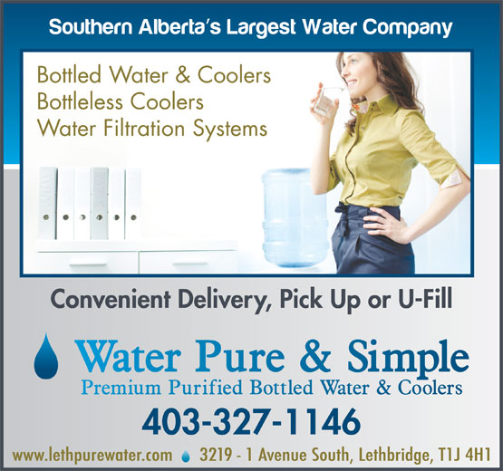 Ads Water Pure & Simple Lethbridge