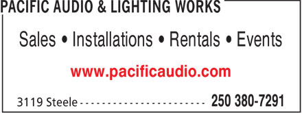 Ads Pacific Audio &amp; Lighting Works