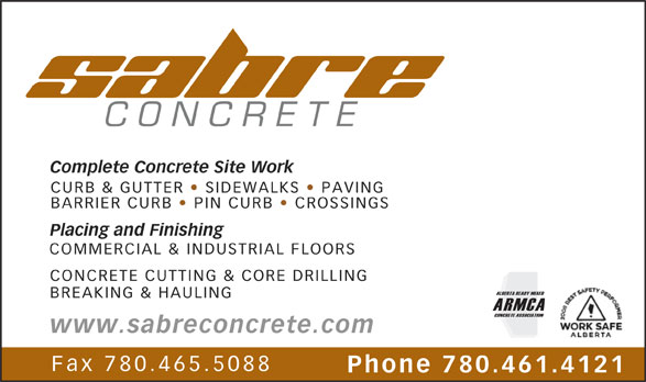 Ads Sabre Concrete Construction Inc
