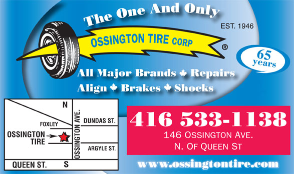 Ads Ossington Tire Corp