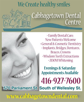 Ads Cabbagetown Dental Centre