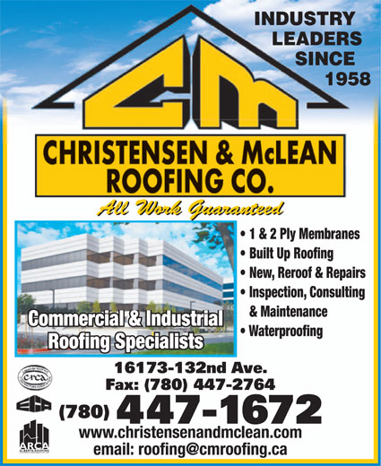 Ads Christensen & McLean Roofing Co