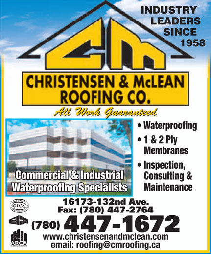 Ads Christensen &amp; McLean Roofing Co