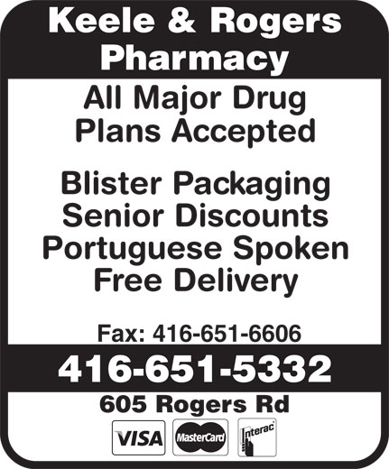 Ads Keele & Rogers Pharmacy
