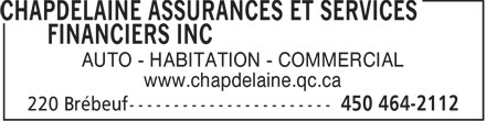 Ads Chapdelaine Assurances Et Services Financiers Inc