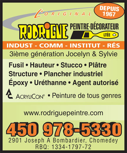 Ads Rodrigue Peintre Dcorateur Lte