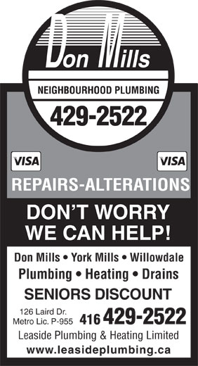 Ads Don Mills Neighbourhood Plumbing