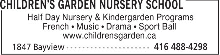 Ads Children&#039;s Garden Nursery School