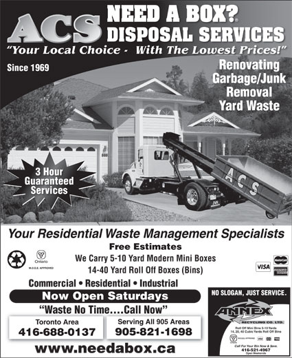 Ads ACS Disposal Services