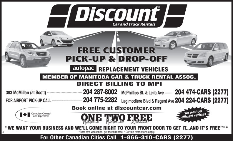 Ads A Discount Car &amp; Truck Rentals
