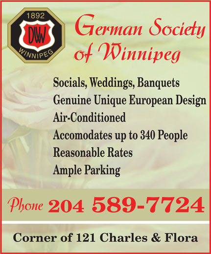 Ads German Society of Winnipeg