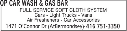 Ads OP Car Wash &amp; Gas Bar