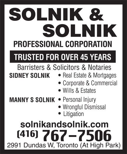 Ads Solnik & Solnik Professional Corporation