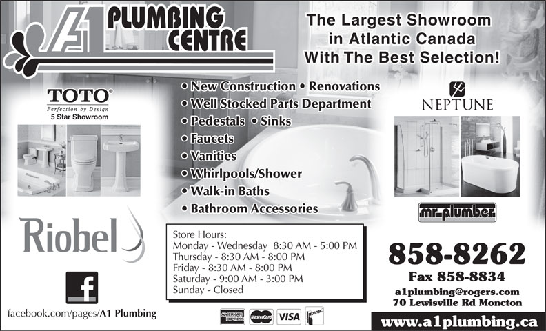 Ads A-1 Plumbing Centre