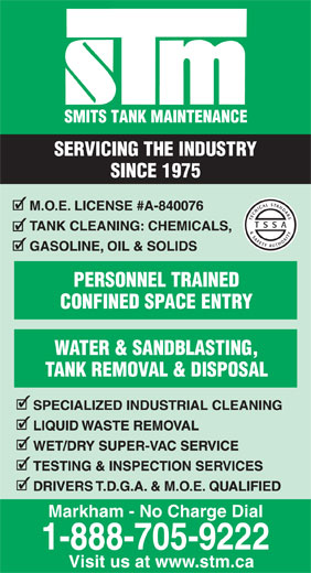 Ads Smits Tank Maintenance Inc