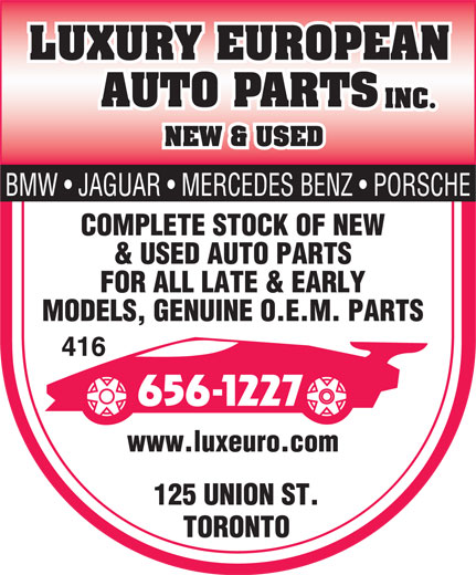 Ads Luxury European Auto Parts Inc