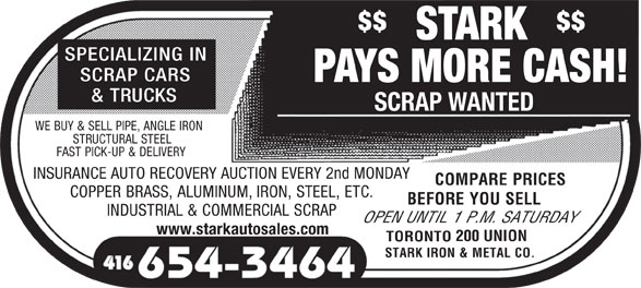 Ads Stark Iron & Metal Co