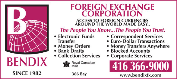 Ads Bendix Foreign Exchange Of Canada