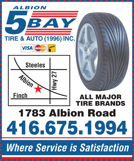 Ads Albion 5 Bay Tire & Auto Centre Inc