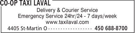 Ads Co-Op Taxi Laval