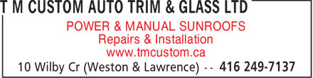Ads T M Custom Auto Trim & Glass Ltd