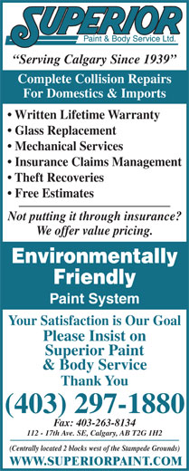 Ads Superior Paint and Body Service
