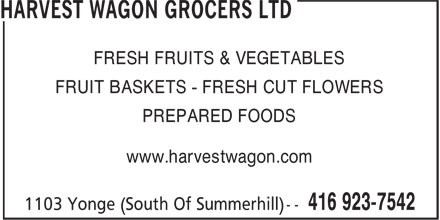 Ads Harvest Wagon Grocers Ltd