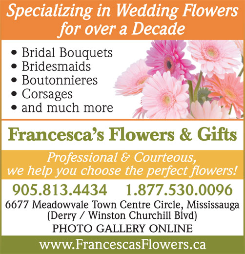 Ads Francescas Flowers Gifts