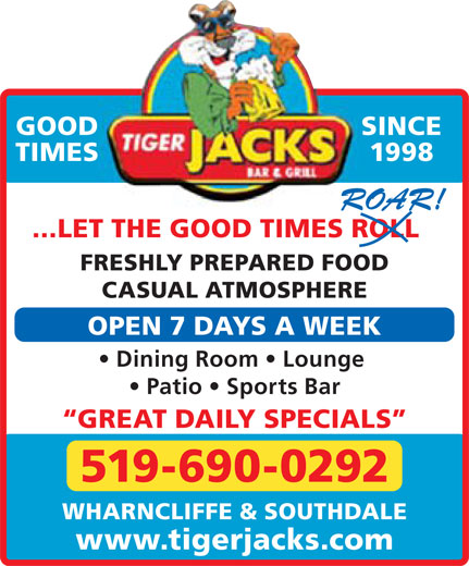 Ads Tiger Jack&#039;s Bar &amp; Grill