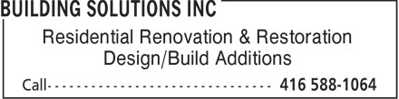 Ads Building Solutions Inc