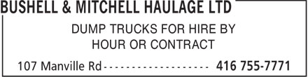 Ads Bushell & Mitchell Haulage Ltd